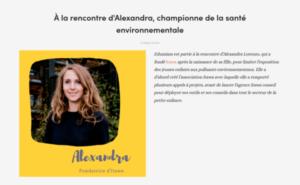 A la rencontre d'Alexandra, championne de la Santé Environnementale
